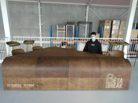 Mathieu Rouaud et les produits développés en fibres de chanvre